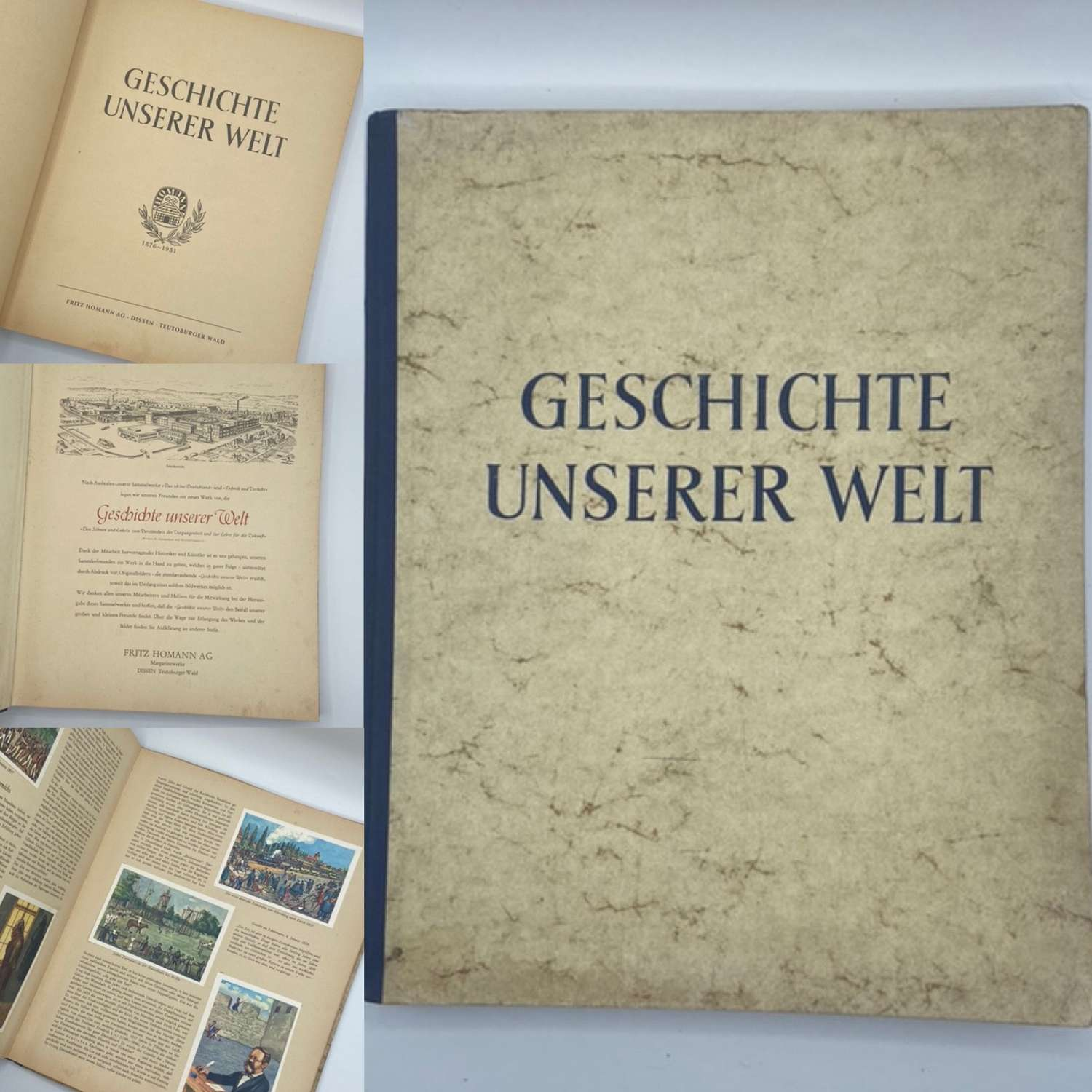 WW2 German Cigarette Card Album History Of Our World