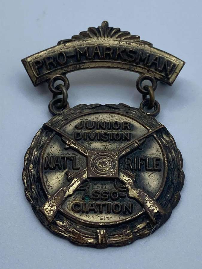 1950s ProMarksman Junior Division Nra National Rifle Association Medal