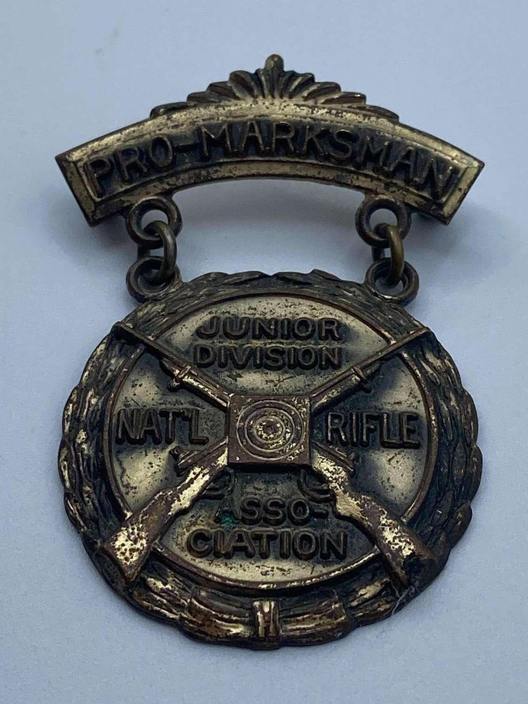 1950s ProMarksman Junior Division Nra National Rifle Association Medal