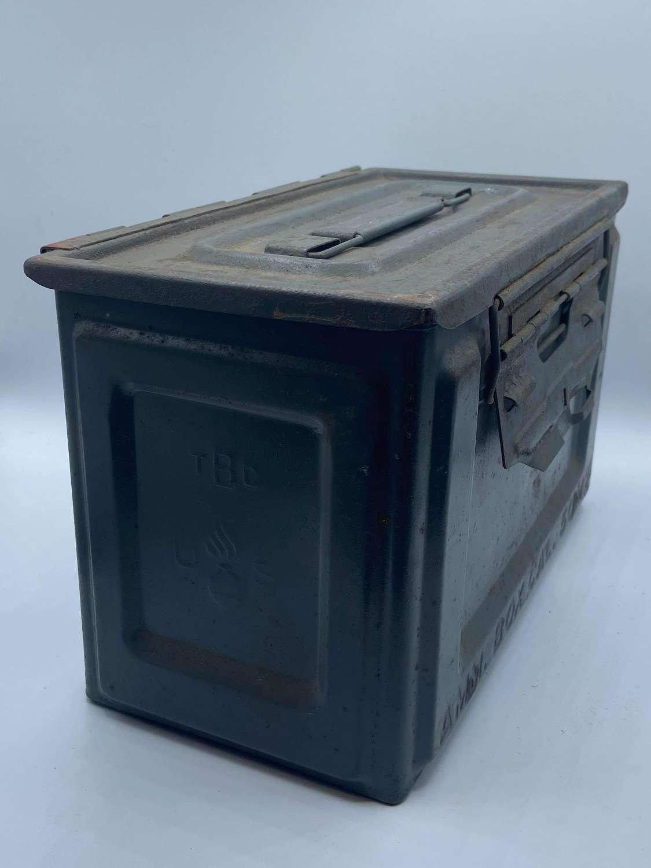 Mint WW2 United States Ammo Box 50 Cal M2 US TBC Flaming Bomb