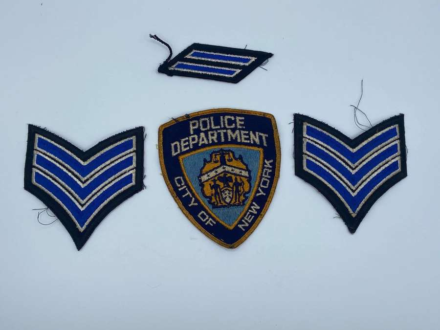 Lot Of 4 Vintage NYPD Police Department Of New York City Patches