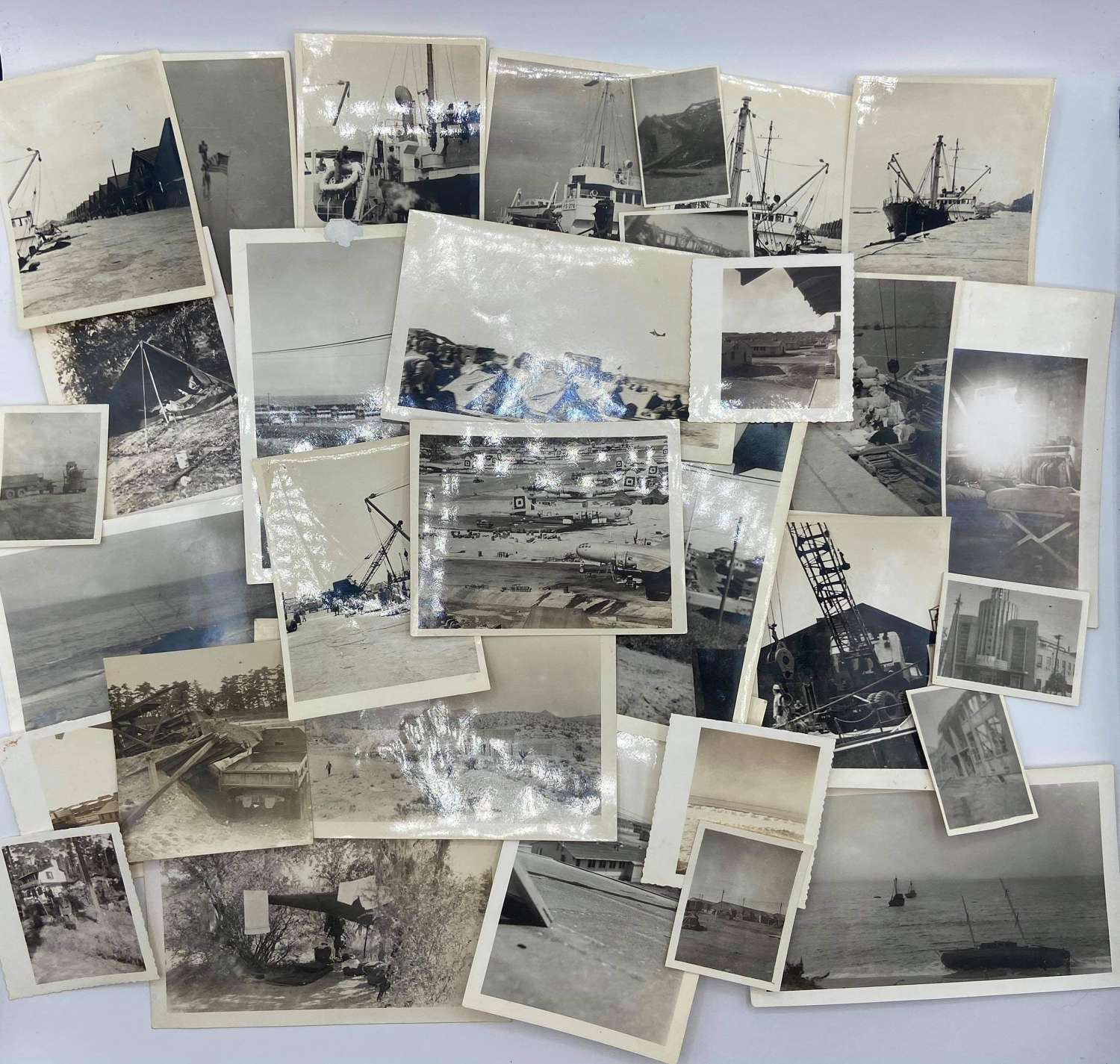 WW2 US Airforce B-29s 29th bombing group original photographs