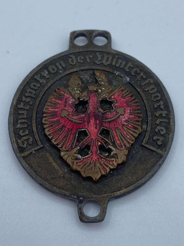 WW2 German Austrian Patron Saint Of Winter Sports ULLR Medal