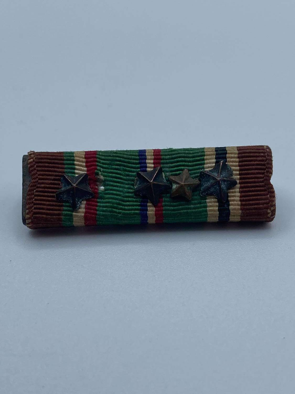 WW2 US European African Middle Eastern Campaign Bar 4 Star Citations