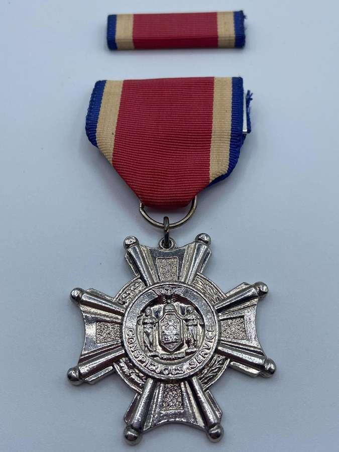 Original Cold War Issue New York Conspicuous Service Cross & Bar