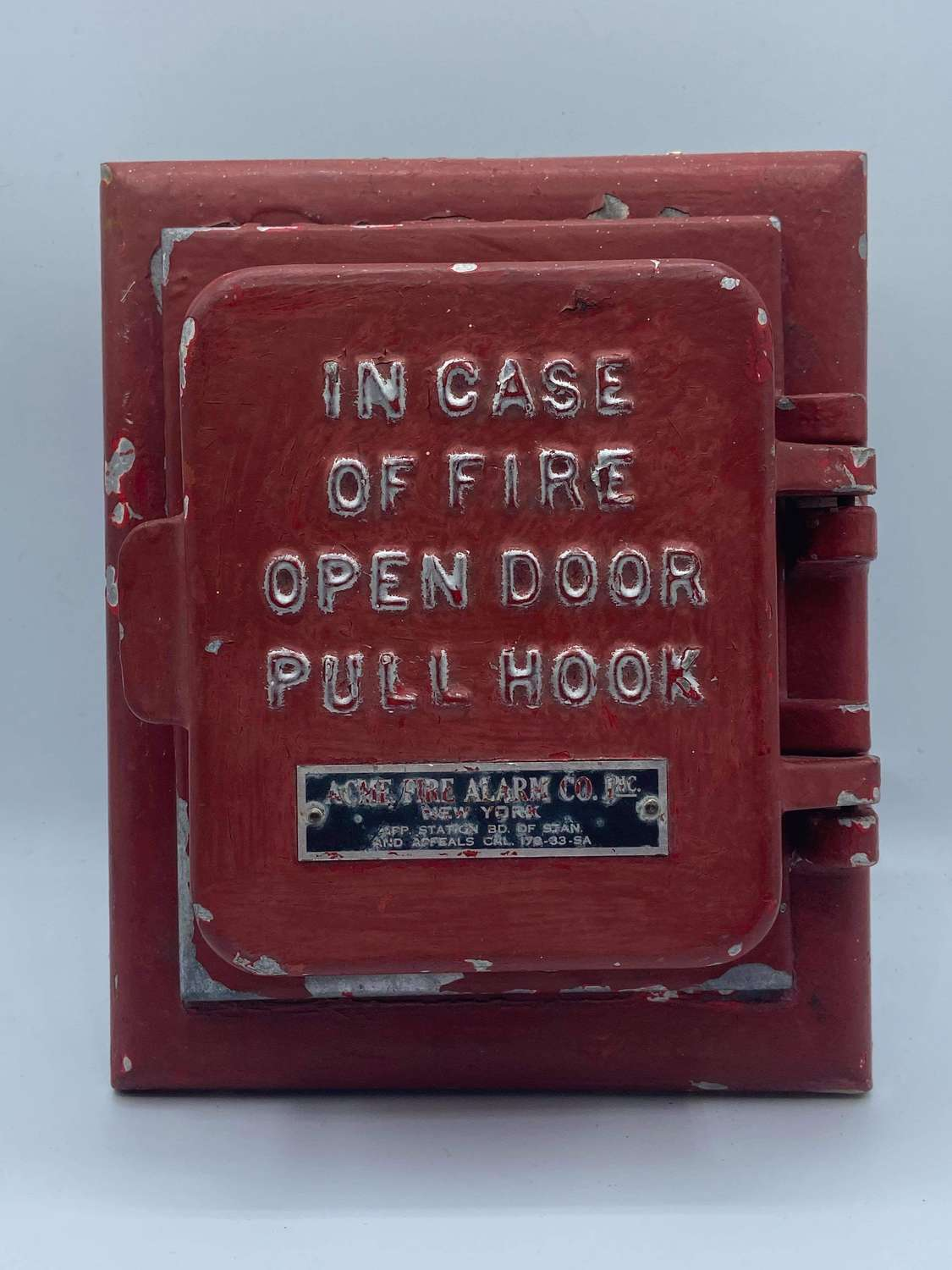 1891 Dated ACHME NY Cast Iron Fire Alarm Box Union Made