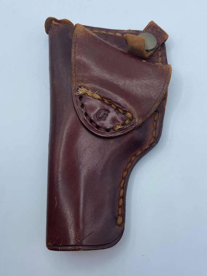 1950s US NYPD New York Leather Side Arm Holster Marked GH