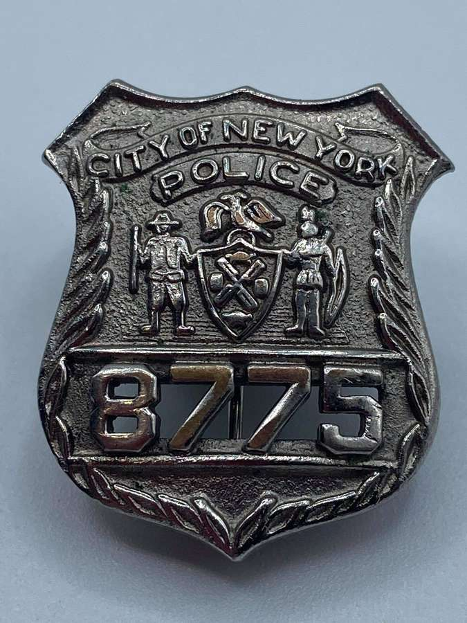 Silver Plate 1940s New York Transit Police Department Badge No 8775