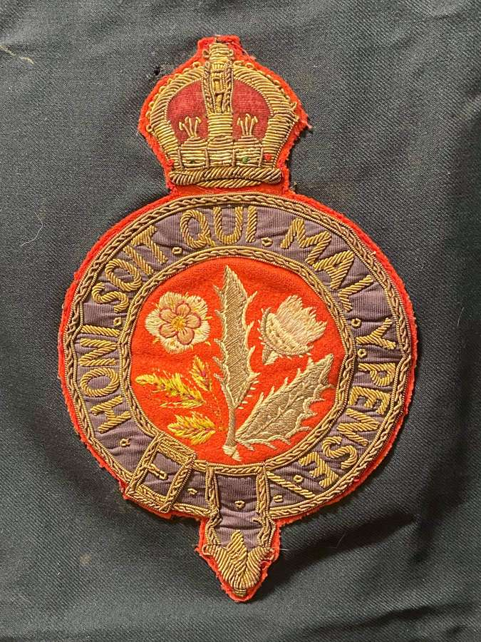 Boer War Royal Hospital Chelsea Staff Large Bullion Patch