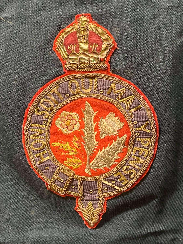 Boer War Royal Hospital Chelsea Staff Large Bullion Patch
