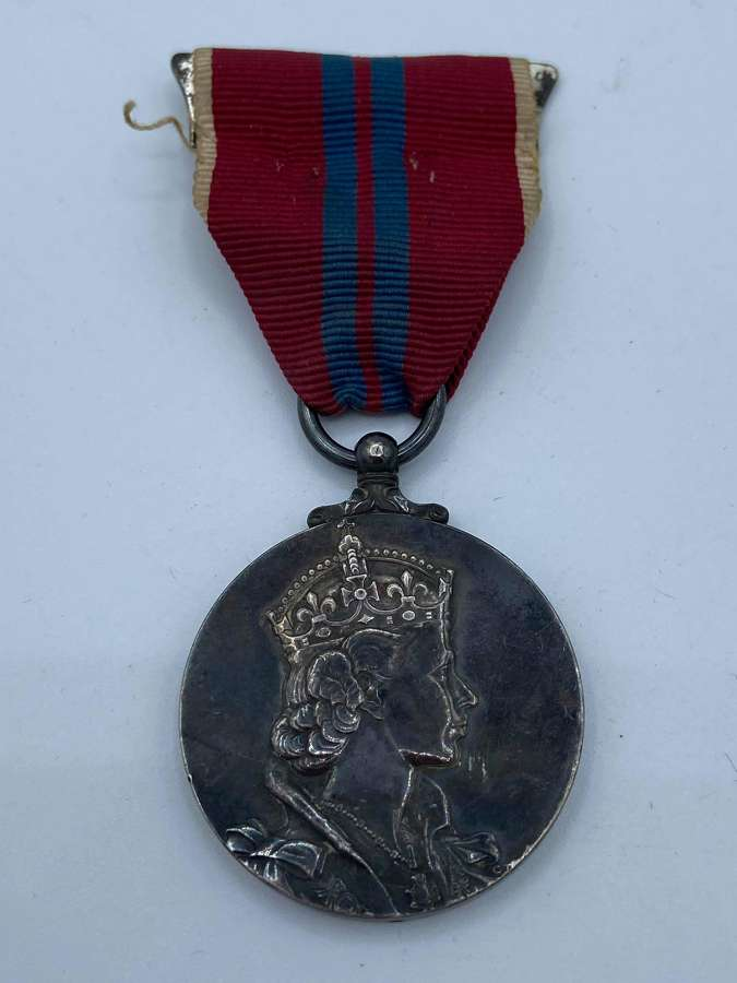 Post WW2 1953 Queen Elizabeth II Silver Coronation Full Sized Medal