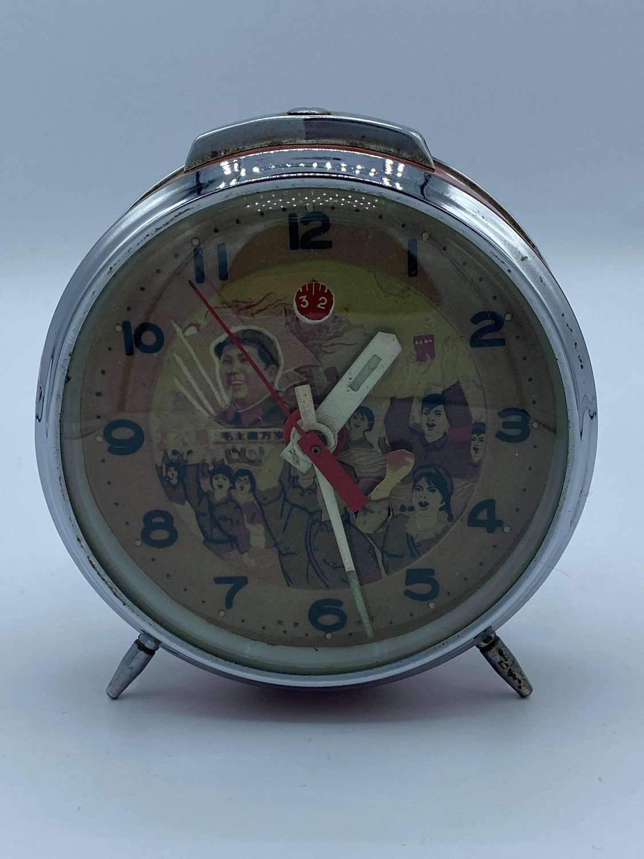 1960s Working Chinese Communists Propaganda Mao Zedong Alarm Clock