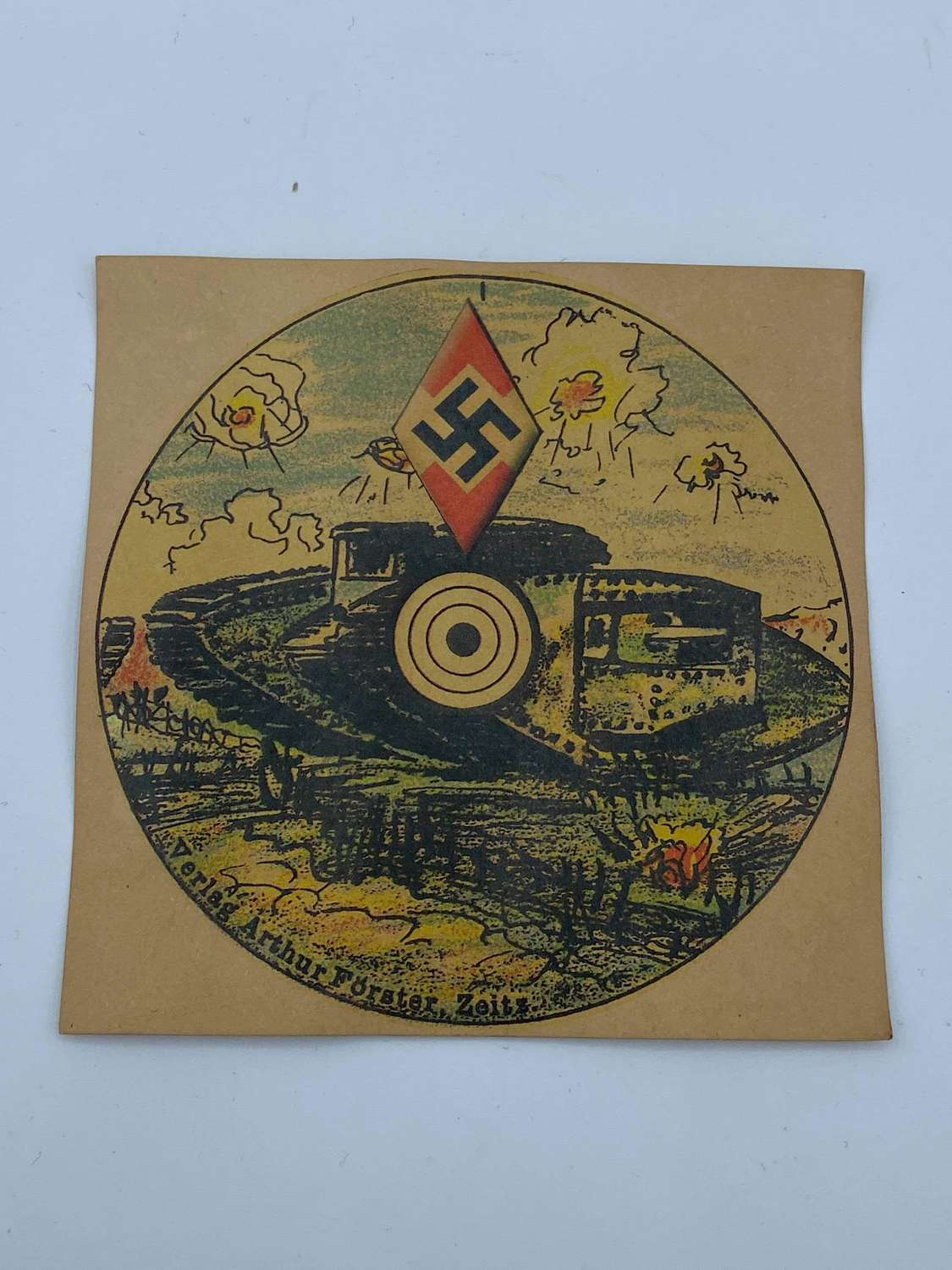 WW2 German Hitler Youth Pistol Tank Card Targets Arthur Forster Zeitz