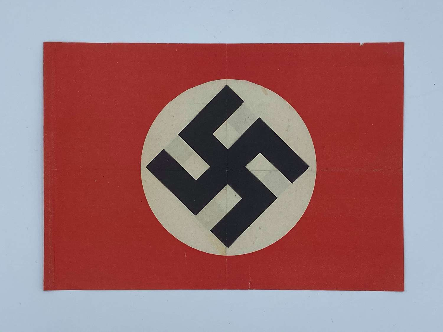 WW2 German NSDAP Paper Patriotic Parade Flag