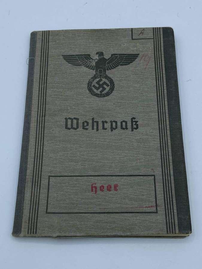 WW2 German Wehrpass To Otto Karl Albrecht, Stettin Poland, Landwehr I