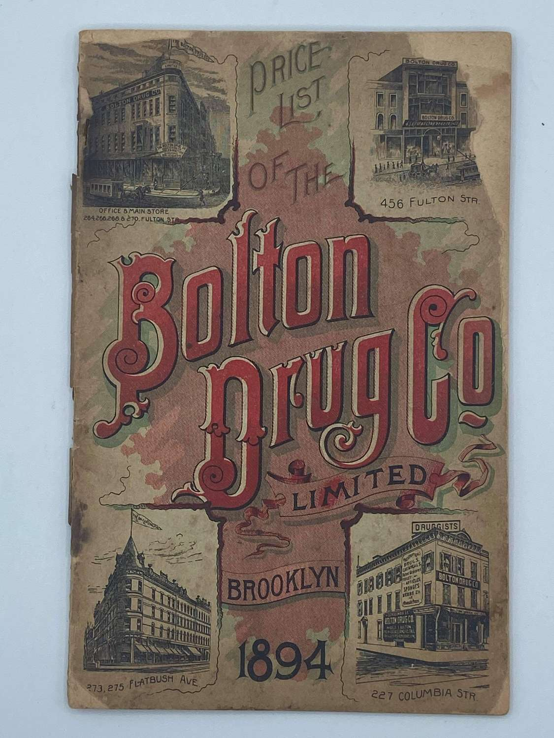 1894 Brooklyn Catalog Of The Bolton Drug Co Limited Catalog 74 Pages