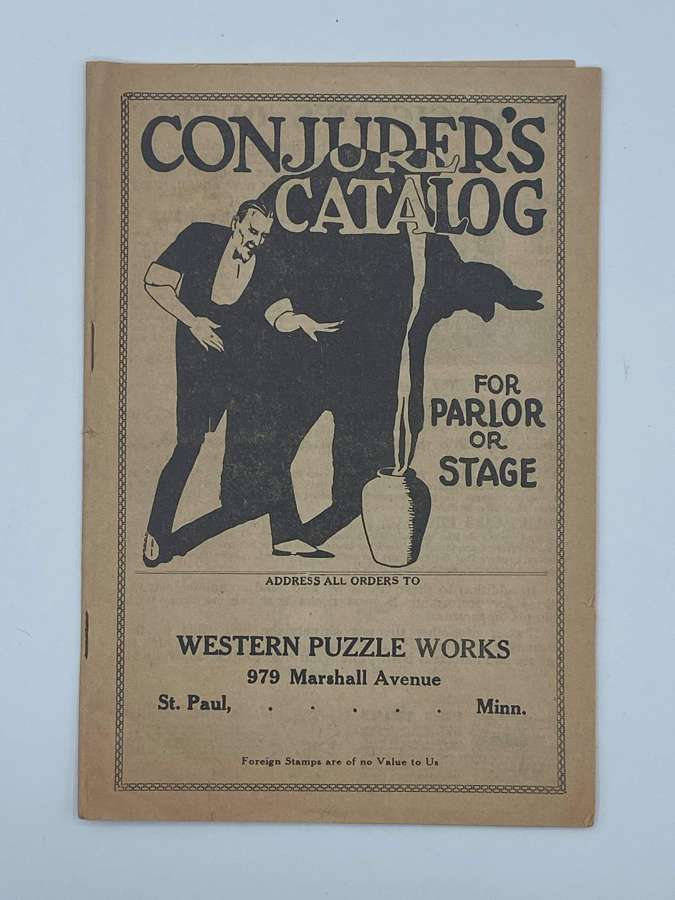 1910s Conjurer Catalog For Parlor Western Puzzle Works Black Americana