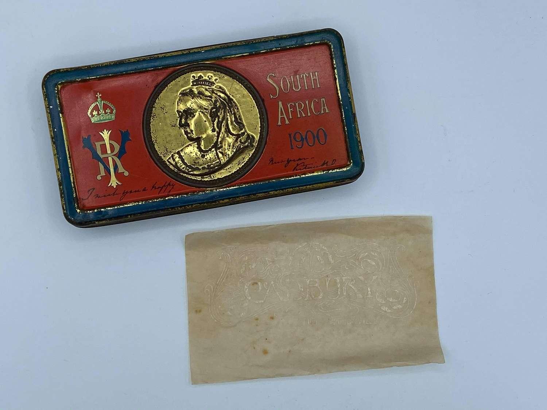 Boer War 1899-1902 Queen Victoria Chocolate Cadburys Tin & Wrapper