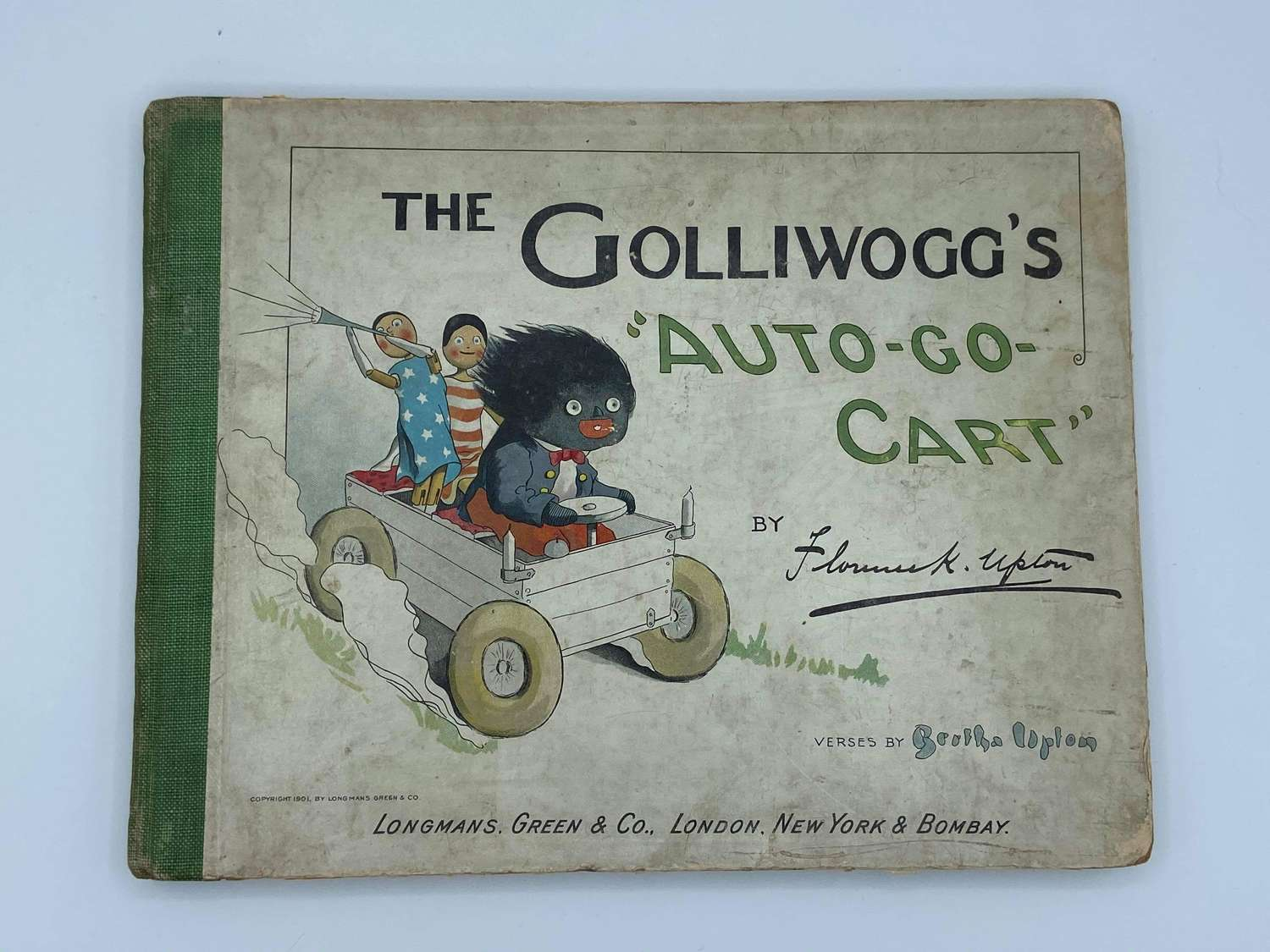 The Golliwoggs Auto Go Cart 1901 1st Edition Longmans Green & Co Book