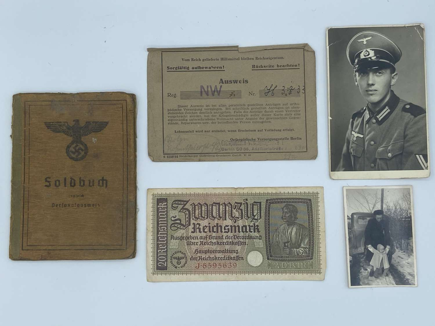 WW2 Operation Vienna casualty  Soldbuch Ogfr Franz Gren Ers Btl I/462