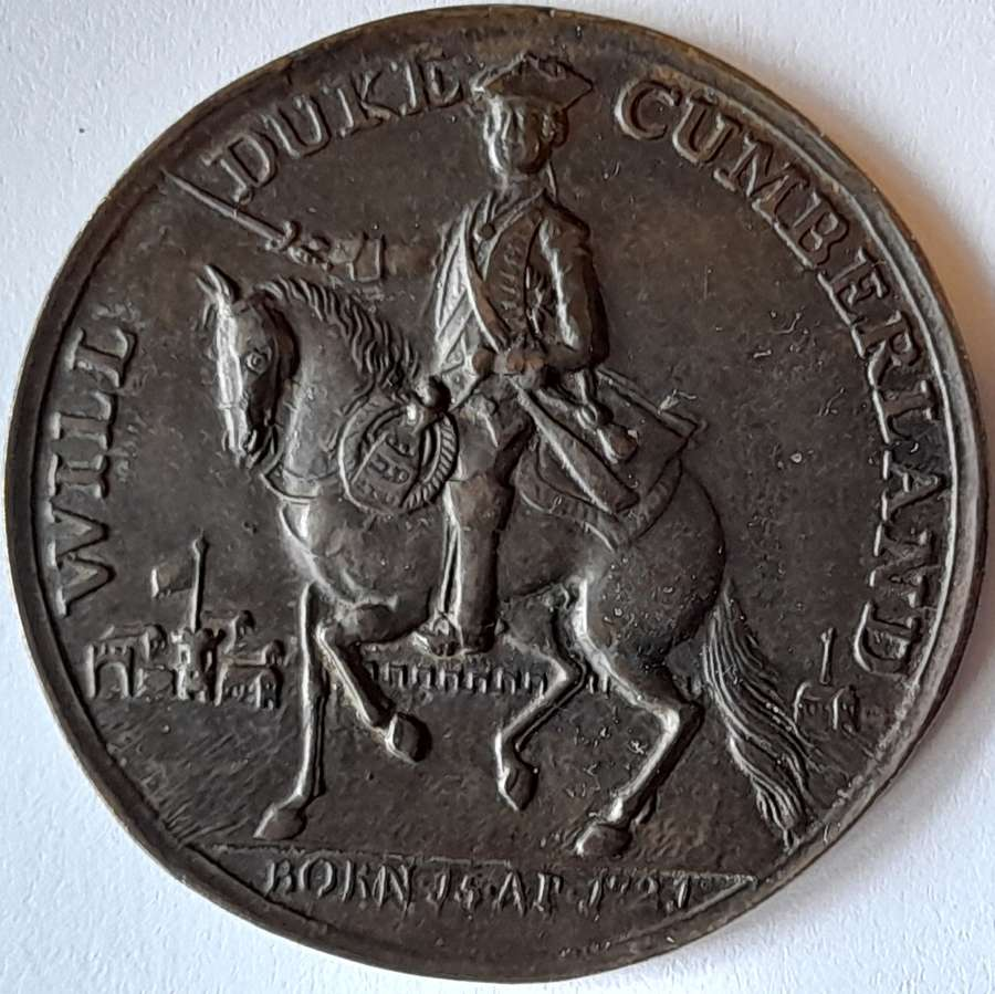 A very fine example of the rare battle of Culloden medal