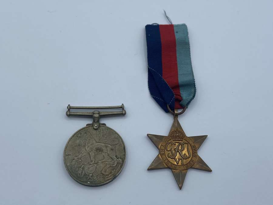 WW2 British Army Medal Duo: 1939-45 Star Medal And War Medal