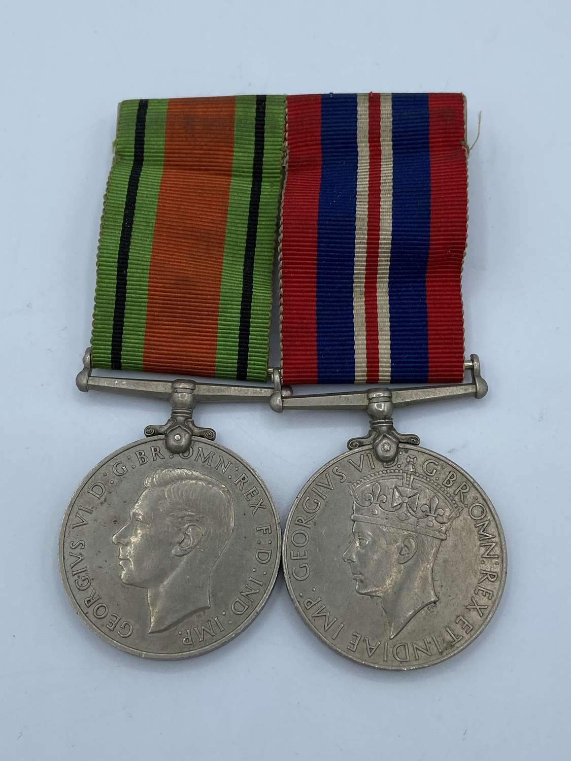 WW2 British Army Medal Duo, Mounted War And Defence Medal