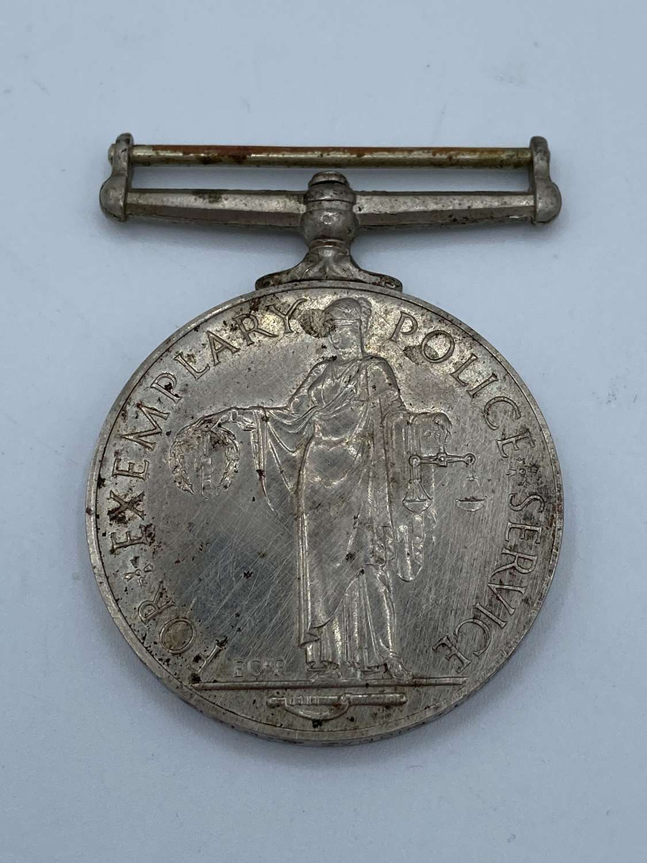 Queen ElizabethII Police Long Service & Good Conduct Medal Dickson