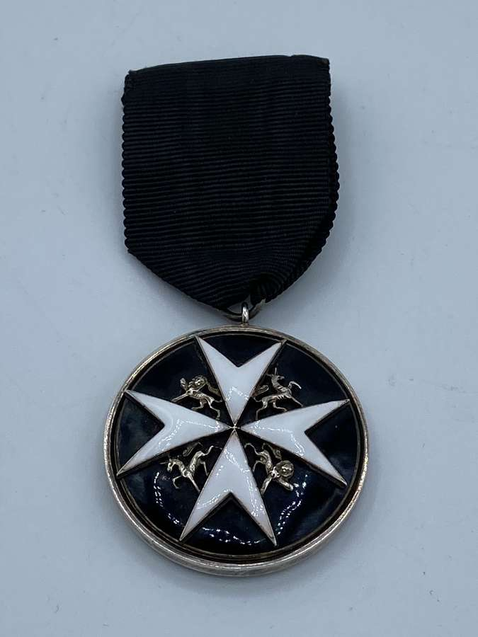 1892-1930 Order Of St John Officer Serving Brother Silver Medal