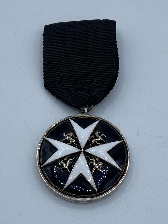 1892-1930 Order Of St John Officer Serving Brother Silver Medal