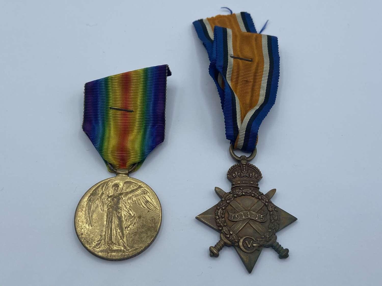 WW1 Morris Brothers Both KIA Flanders 1915 & 1918 Loyal North Lanc Reg