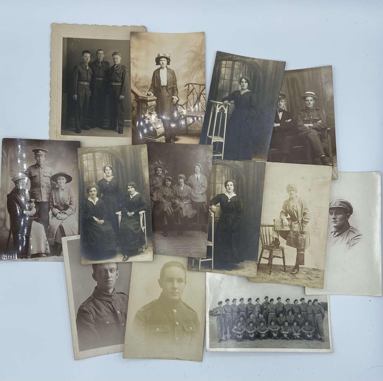 WW1 Womens Munitions Workers Walthamstow Photographs Postcard Lot X 13
