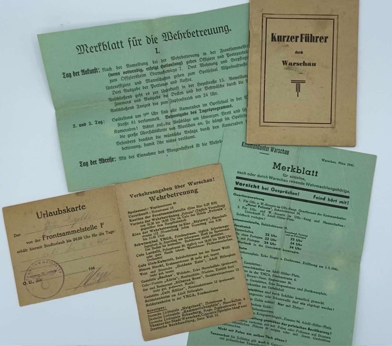Rare WW2 German Wehrmacht Soldiers Warsaw Ghetto 1941 Paperwork