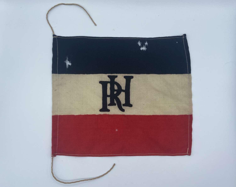 Small WW1 Imperial Prussian Army RH Cypher Regiment Flag