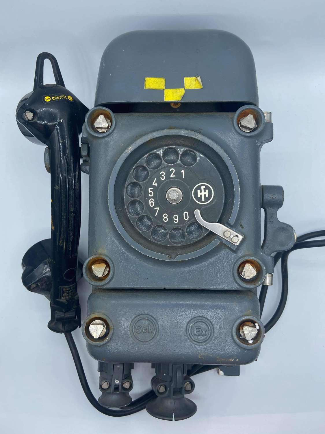 1950s West German Army Armoured Bunker Wall Phone Type DFWT