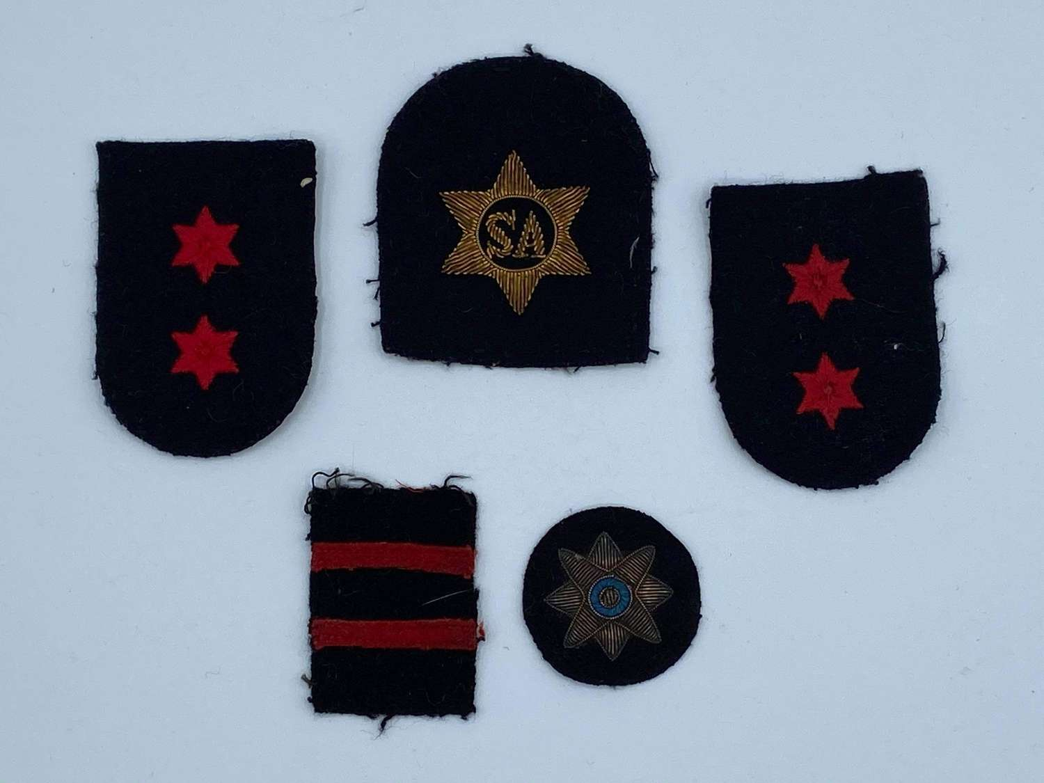 Joblot Of WW2 Royal Navy Patches: Stores Accountant, Chevrons Etc