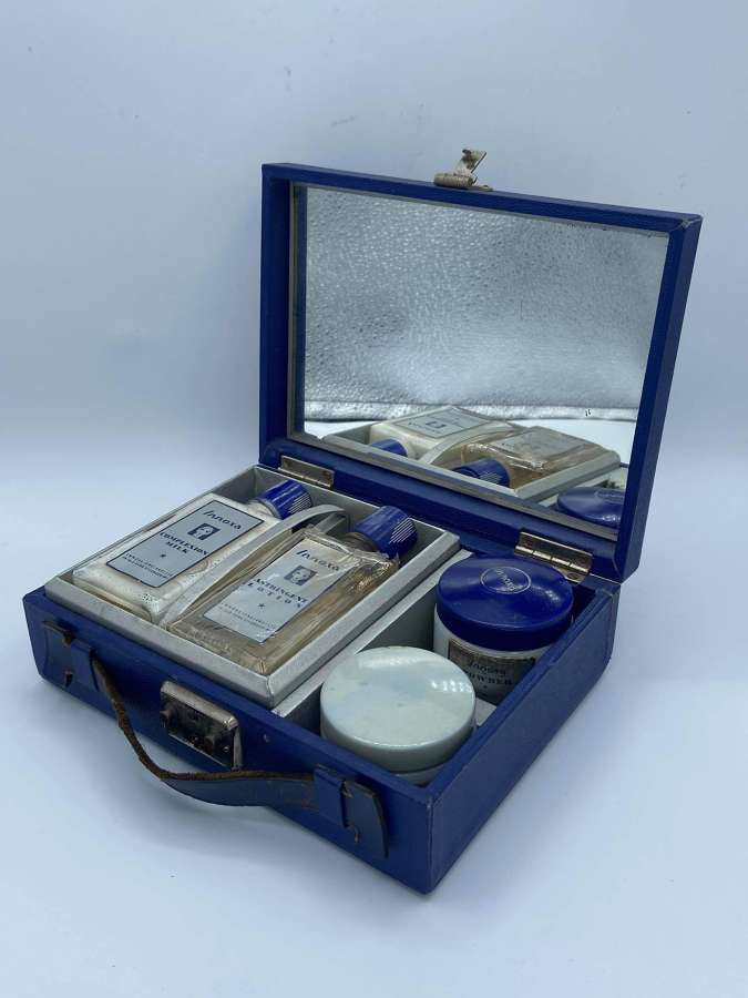 Vintage 1940s Art Deco INNOXA Brand Vanity Set With Original Contents