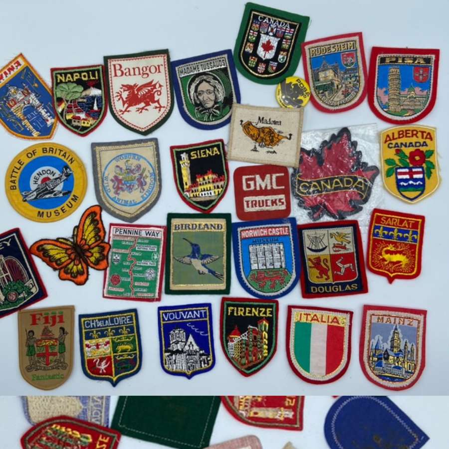 Vintage Lot Of Travel Tourist Patches Canada Napoli Fiji etc x 28