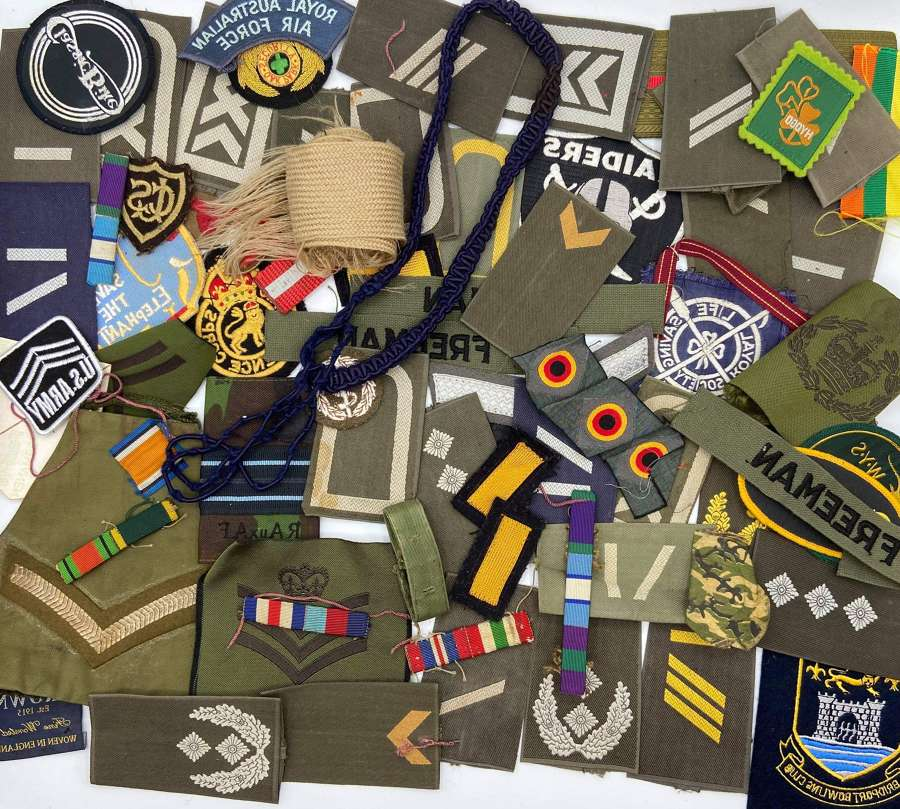 Large 1940s To 1980s German & British Military Patches Lot