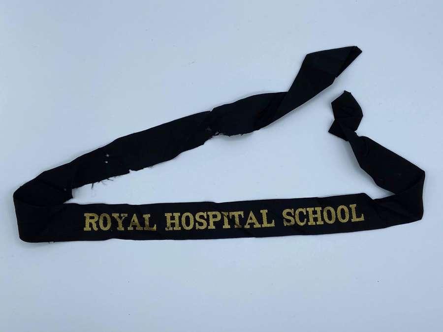 Original Vintage Royal Navy Cap Tally Royal Hospital School