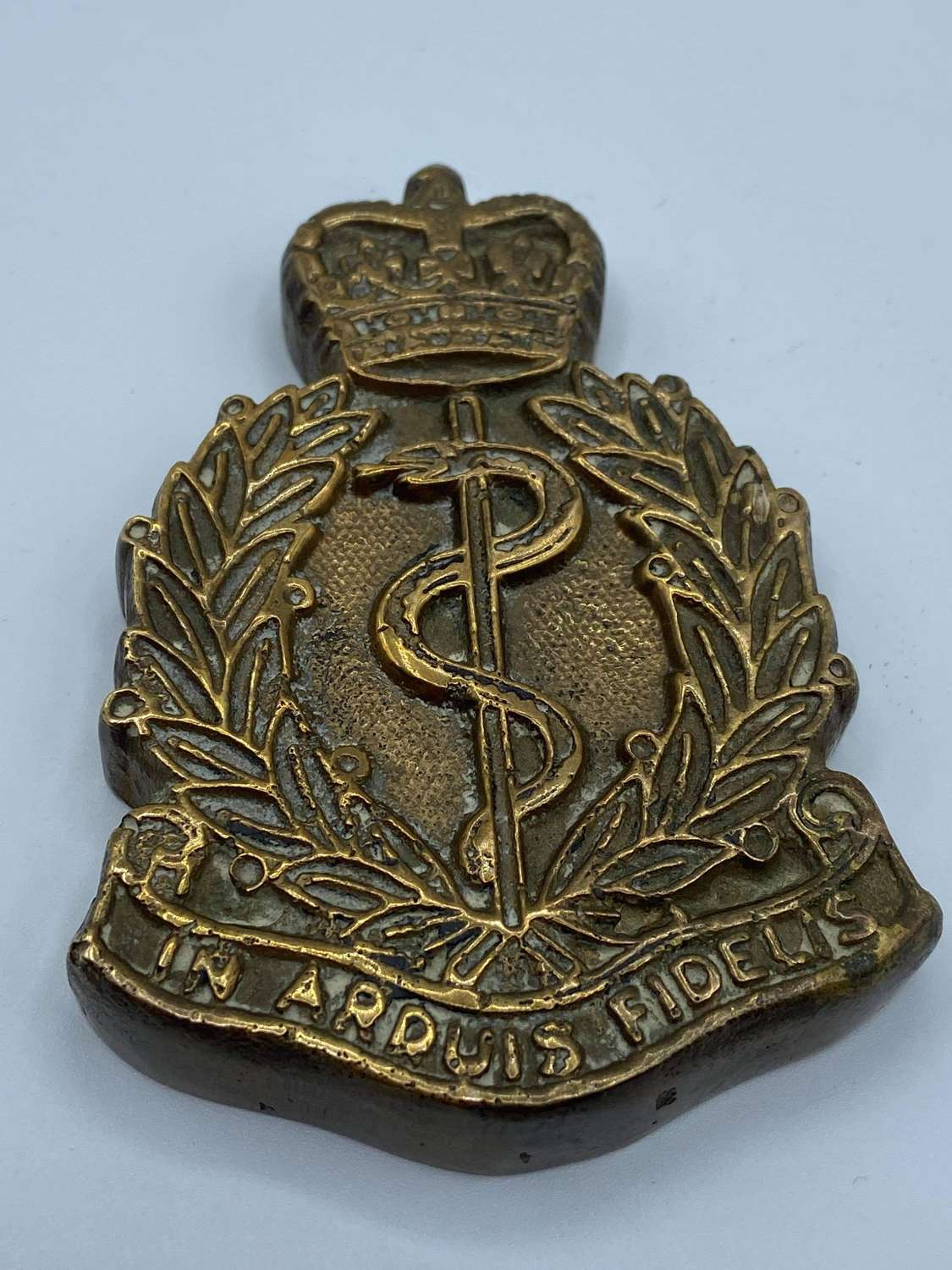1940s To 50s Brass Royal Army Medical Corps RAMC Reg Paperweight