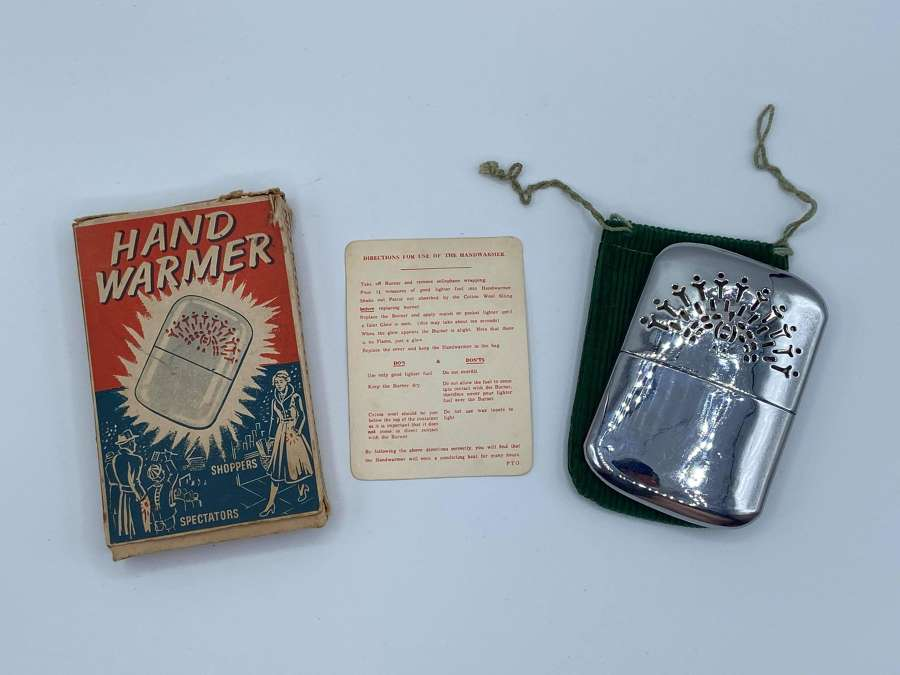 WW2 1930s British EMPIRE Made Unused Hand Warmer With Box, Instruction