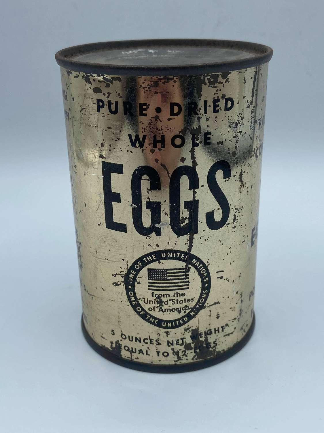 WW2 United States Army 1945 United Nations Dried Whole Eggs Unopened
