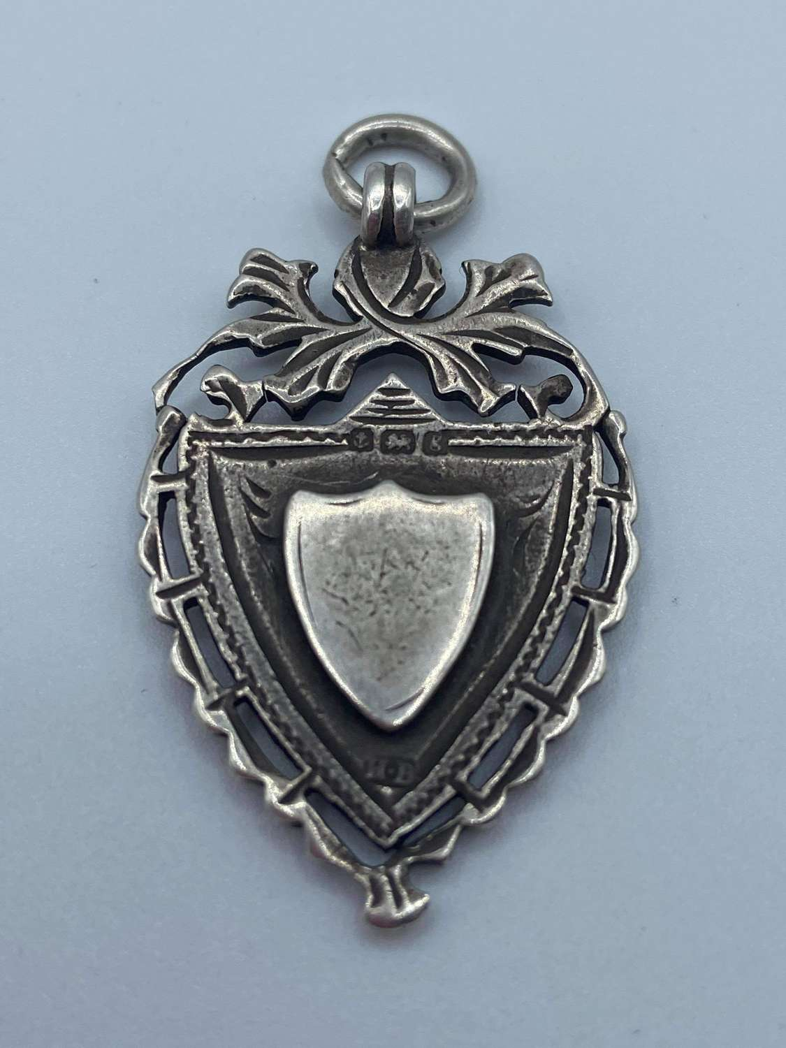 Antique Silver Hallmarked Birmingham 1906 H.B Double Sided Watch Fob