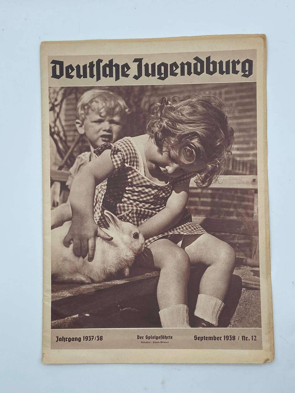 WW2 German Hitler Youth 1938 Magazine: Adverts, Photos & Text