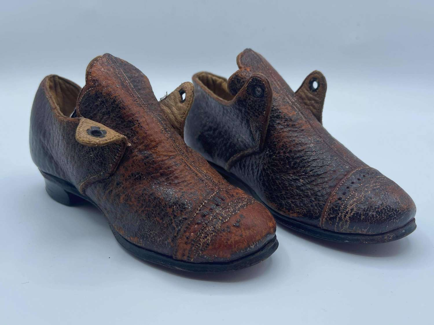 Beautiful Antique Victorian 1880s Childs Leather Shoes Size 29