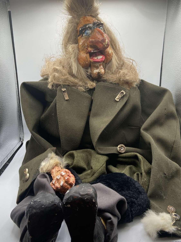Antique 1940s German/ Austrian Ventriloquist Dummy Full Of Character