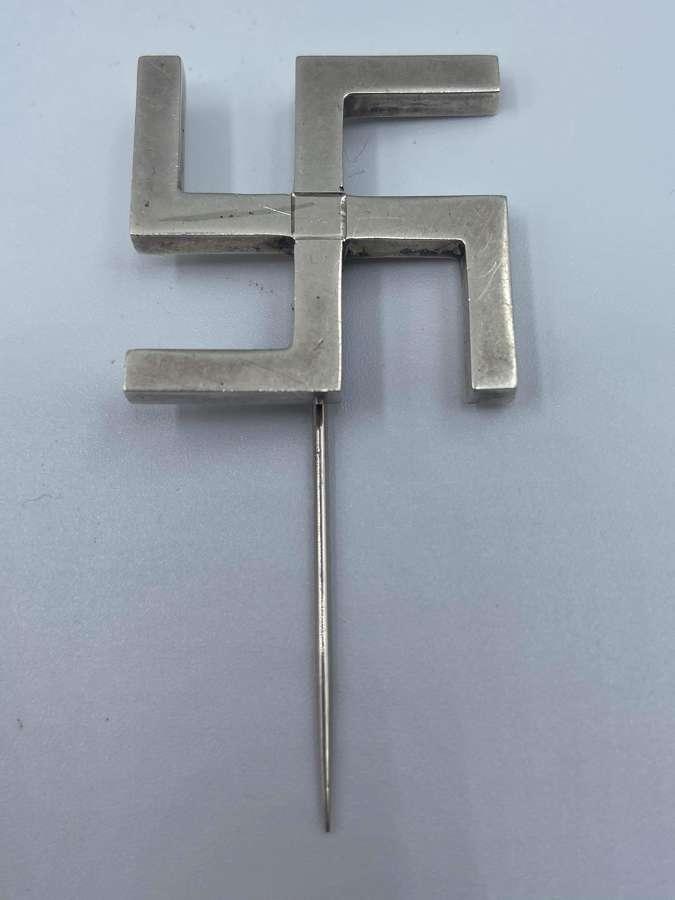 Antique Dublin Silver Hallmarked 1923 Swastika Laundry Company Pin