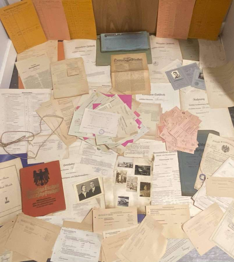 WW2 German Entire Wartime Record: Financial & Military Of Stredden