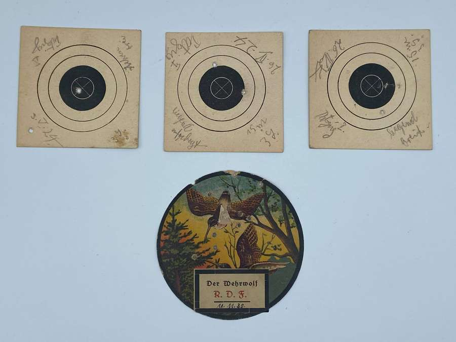 Early WW2 German 1932 Dated Der Wehrwolf Paper Target Named On Reverse
